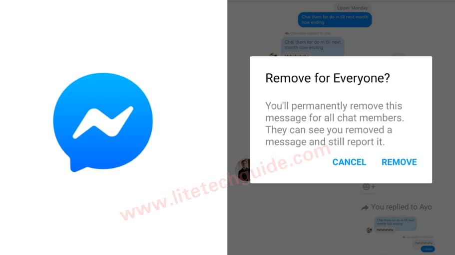"""Facebook Messenger now lets you """"remove for everyone"""" (delete for everyone)"""