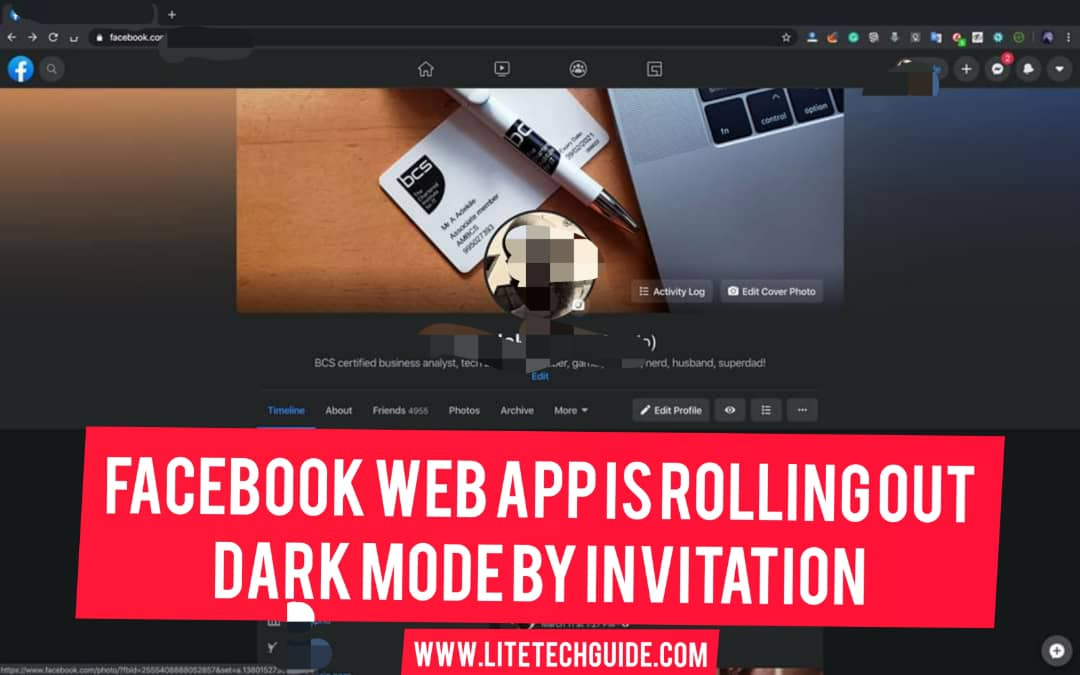 Facebook Web App Is Rolling Out Dark Mode By Invitation
