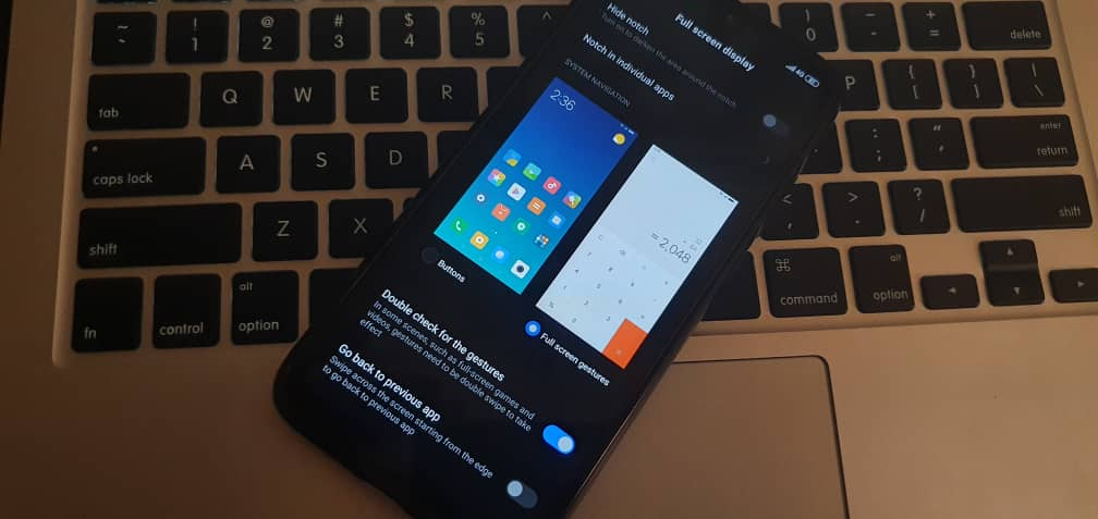 MiUi: How To Set Up Full Screen Gesture